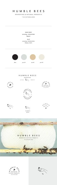 Humble Bees Branding by Saturday Studio
