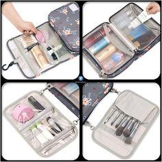 Toiletry Bag for Women, Hanging Travel Makeup Bag Water-resistant for Toiletries/Cosmetics/Brushes. Travel Toiletries, It Cosmetics Brushes, Travel Makeup, Toiletry Bag, Iphone, Water, Bags, Gripe Water, Handbags