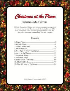 Christmas at the Piano Christmas Piano Music, Digital Sheet Music, Piano Sheet Music, Silent Night, Christmas Carol, The Creator, Laughter, Songs, Learning