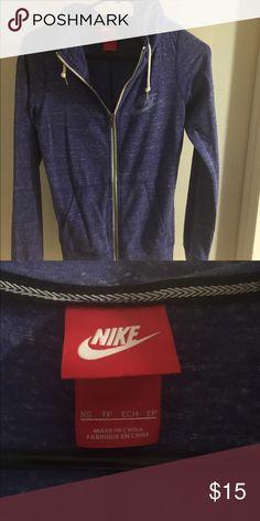 Nike Purple/Blue Women's Zip-Up Hoodie No stains or signs of wear. Nike Tops Sweatshirts & Hoodies