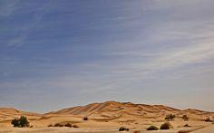 Le dune dell'Erg Chebbi in lontananza