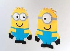 Minion Character's Figures wall decor for birthday party, Custom Minion Decorations, Despicable Me Birthday, Wall Decor, Despicable Me Party - pinned by pin4etsy.com