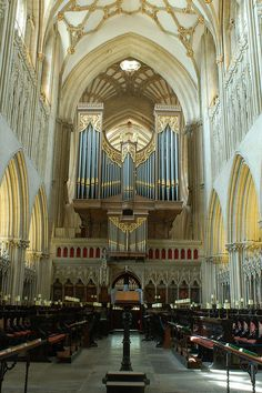Wells Cathedral, Somerset, UK - Sang there with the Lovers Lane UMC Sanctuary Choir from Dallas, Texas!