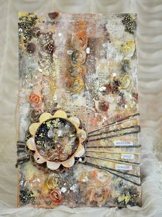 TandiArt: ' Embrace your Dream' mixed media on wood for Cozy Challenge with Finnabair + video tutorial