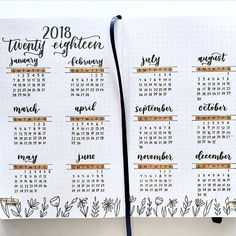 Bullet Journal Annual Calendar