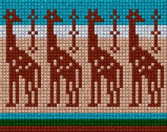 Tapestry Crochet Patterns, Bead Loom Patterns, Cross Stitch Patterns, Cross Stitch Sea, Cross Stitch Animals, Knitting Charts, Knitting Patterns, Motif Fair Isle, Inkle Weaving