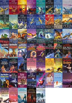 Anne-McCaffrey-books (I love the dragonriders of Pern)