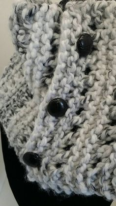 Buttoned Up Cowl  Cozy Cowl Snuggle Cowl Lace Cowl by XOXOknit