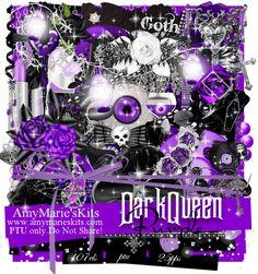 Dark Queen-Purple Version [AM_DarkQueen_Purple] - $1.25 : AmyMaries Kits