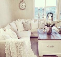 Shades of White Living Room
