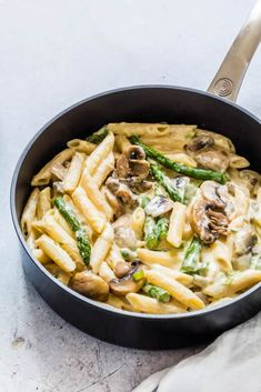 This Asparagus Mushroom Pasta recipe is simple, tasty, comforting and awesome. An easy dinner recipe. (from Recipes from a Pantry) healthy pasta recipes Vegetarian Pasta Recipes, Healthy Pasta Recipes, Healthy Pastas, Veggie Recipes, Lunch Recipes, Easy Dinner Recipes, Appetizer Recipes, Cheap Pasta Recipes, Dinner Healthy