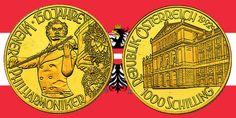 1000 Schilling in Gold Johann Strauss in der Serie 150 Jahre Wiener Philharmoniker › Investment News