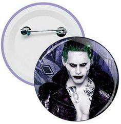 J015 - Botons e Chaveiros - Esquadrão Suicida - Joker - Coringa - Harley Quinn - Wathsapp: (61) 9 9129-7213