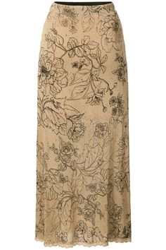 Morning Glow | Fall collection | Skirt | Print | Flowers | Camel | Maxi