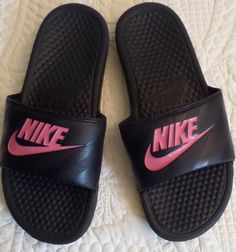 09a8f4a50bc9a3 ... black pink slides that I have been wanting to get my hands on