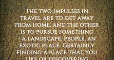 the two impulses in travel. Exotic Places, Roads, Two By Two, Landscape, Travel, Scenery, Viajes, Road Routes, Street