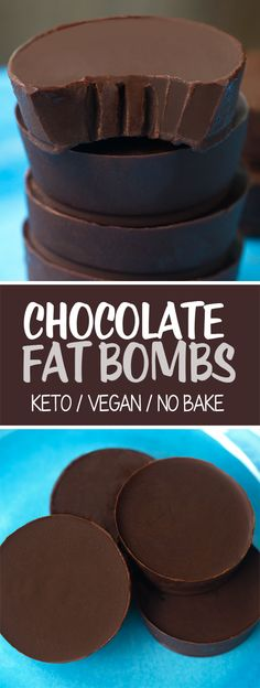 Quick and easy homemade chocolate fat bombs – with just 3 ingredients and NO baking required! What Are Fat Bombs? Low carb, keto and vegan friendly no-bake treats, fat bombs are typically made with Keto Vegan, Roh Vegan, Vegan Keto Recipes, Low Carb Recipes, Vegetarian Keto, Coconut Oil Recipes Keto, Stevia Recipes, Cacao Recipes, Flour Recipes