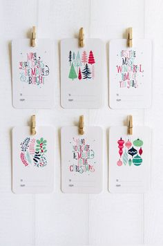 Christmas+Gift+Tags++Set+of+6+by+LoveCarli+on+Etsy