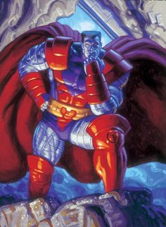 Colossus by Tim & Greg Hildebrandt - 1994 Marvel Masterpieces trading card painting Comic Art