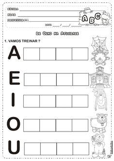 Atividades Com as Vogais        Atividades Com as Vogais      Atividades Com as Vogais      Atividades Com as Vogais      Atividades Com a... Toddler Activities, Preschool Activities, Jean Piaget, Abc Phonics, Lettering Tutorial, Preschool Printables, Kids Learning, Worksheets, Back To School
