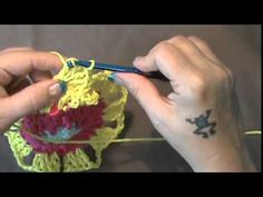"How to Crochet the ""Flower Power Valance""...Video 2 of 2 - Stitchinstacy https://www.youtube.com/watch?v=Pm5umkKICzQ"