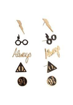 Harry Potter 5-pk Earrings Set