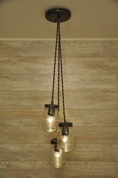 Mason Jar Chandelier - Oil Rubbed Bronze