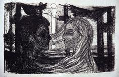 Edvard Munch - Atração. 1896