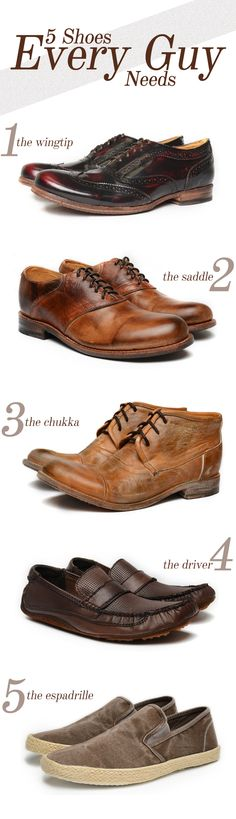 5 shoes every guy needs