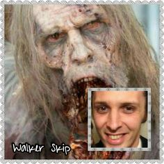 Skip |The Walking Dead Zombies Before and After Makeup