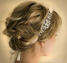 A headband which ties at the bottom ... and holds together loose, unkept curls... love, love, love!