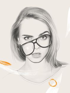 Inspiration: Camille Rowe, Josie Lane, Lily Maymac, Cara Delevingne, Moya Palk & Marta the Martian. Lily Maymac, Portrait Sketches, Drawing Portraits, Beautiful Drawings, Illustration Artists, Drawing Techniques, Drawing People, Mixed Media Art, Pencil Drawings