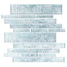 Silver Foil Club 7.81 Square Foot Piano Tiles (Case of 11 Sheets)