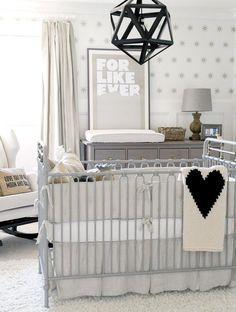 Nursery design: Pale grey nursery {PHOTO: Tracey Ayton}
