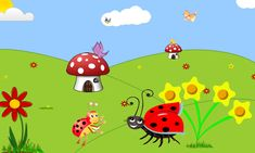A katica elveszett pöttyei - mese Ladybugs, Butterflies, Pikachu, Projects To Try, Bee, Snoopy, Clip Art, Videos, Character