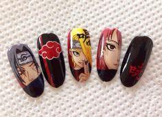 Naruto Nails, Anime Nails, Aycrlic Nails, Glam Nails, Stylish Nails, Trendy Nails, Cute Acrylic Nails, Cute Nails, Maquillage Cosplay Anime