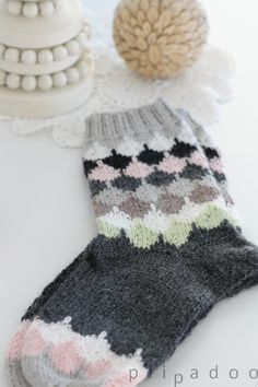 p i i p a d o o: villasukat / knitted socks / cute