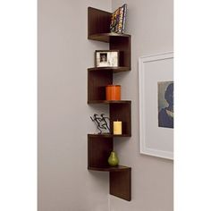 Large Corner Shelf - Walnut