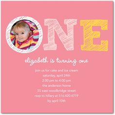 First Birthday Party Invitations