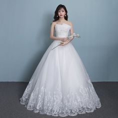 Wedding dress 2017 spring and summer the new bride married chest repair Slim Qi thin Korean style poncho skirt