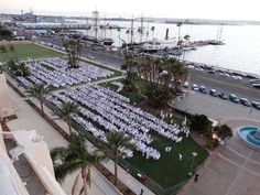 Dinner En Blanc at the Waterfront Park, 2014.