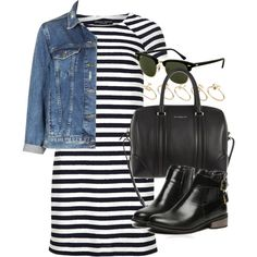 A fashion look from May 2014 featuring Dorothy Perkins dresses, Topshop jackets and Givenchy shoulder bags. Browse and shop related looks.