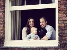 Adorable! Prince George, Duchess Catherine, Kate Middleton, Duke William, Prince William, Lupo