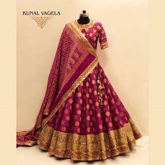 Indian Bridal Outfits, Indian Bridal Fashion, Indian Designer Outfits, Half Saree Designs, Lehenga Designs, Indian Lehenga, Lehenga Choli, Rajasthani Lehenga, Pink Bridal Lehenga