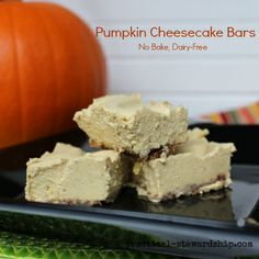 SCD No-Bake Pumpkin 'Cheesecake' Bars DF/EF (*Use honey for sweetener...)