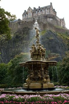 Edinburgh Castle, Scotland. The castle is built on a volcanic rock and occupation of the Castle Rock can be found as early as the mid-2nd century A.D. The last reigning monarch who resided in the castle was King Charles I in 1633.