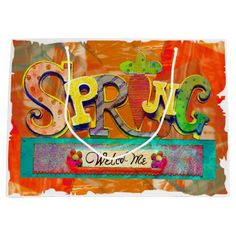 Welcome Spring Large Gift Bag