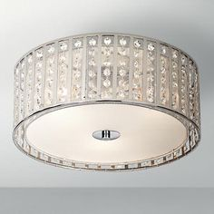 """Possini Euro Crystal Strands 15 3/4"""" Wide Ceiling Light. Good size for your office."""