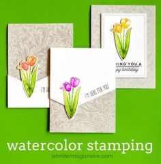 Video: Watercolor Stamping   Jennifer McGuire Ink