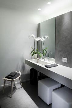 Mirar producto para simar cementos, seguramente Urbatek. Tendencias. Microcemento en el baño.